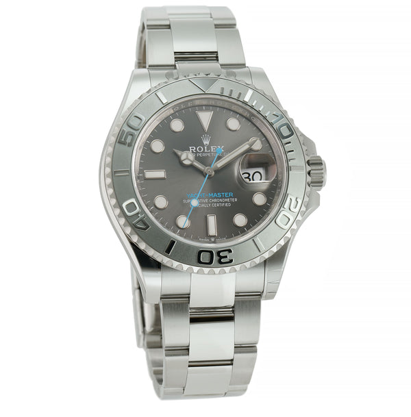 40 Stainless Steel Platinum Bezel Dark Rhodium Dial
