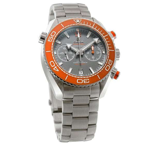 Planet Ocean 600m Co-Axial Master Chronometer 46mm Orange Ceramic Bezel Grey Dial