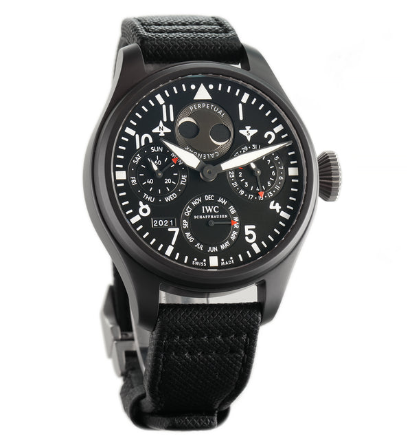 Big Pilot Perpetual Calendar Top Gun Ceramic 48mm Black Dial Full Set 2014