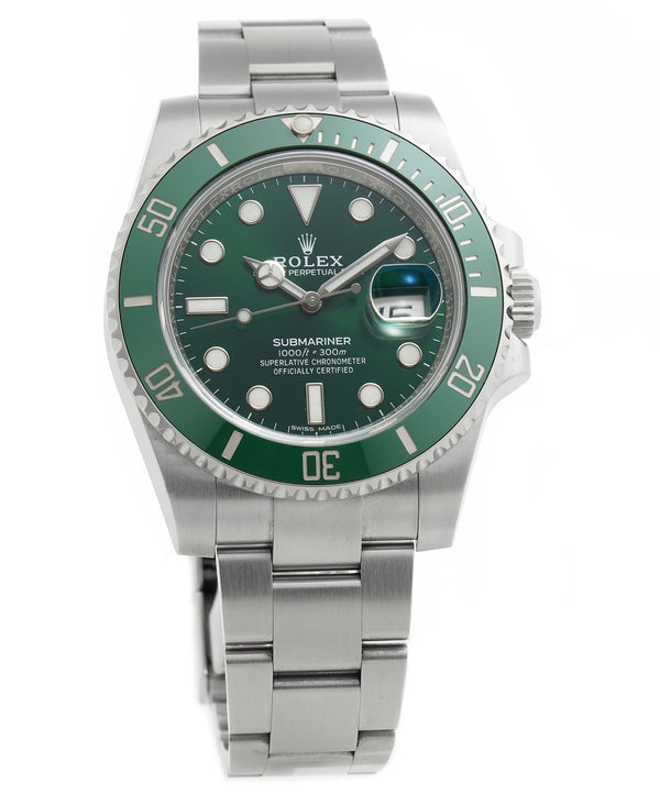 Stainless Steel Green Dial Ceramic Hulk