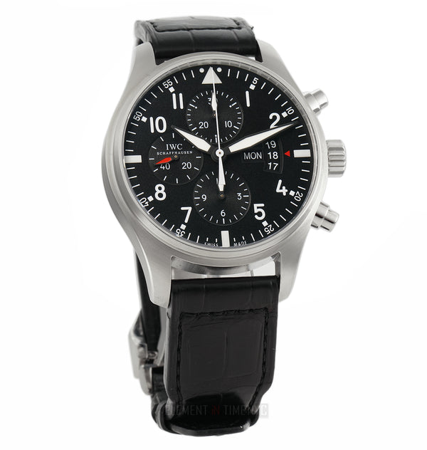 Pilot Chronograph Steel 43mm Deployment Buckle 2012