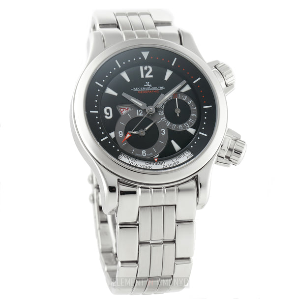 Geographic Stainless Steel 42mm Black Dial