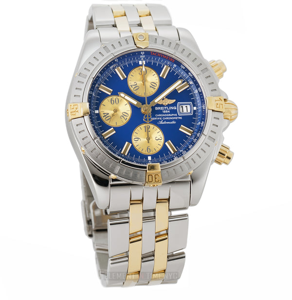 Evolution Steel & 18k Yellow Gold Blue/Champagne Dial 44mm