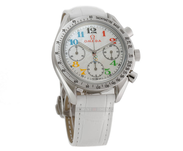 Olympic Lady Chronograph Steel 36mm Mother of Pearl Rainbow Dial 2006