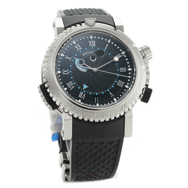 Royale Alarm 18k White Gold 45mm Black Dial