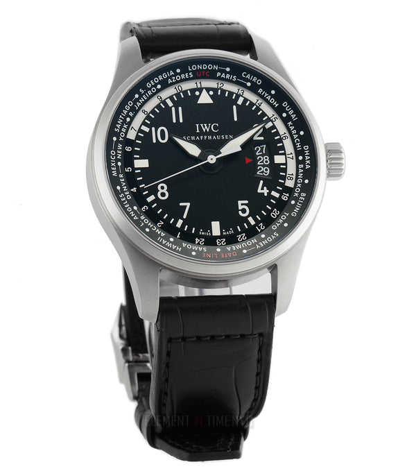 Worldtimer Stainless Steel Black Dial 45mm