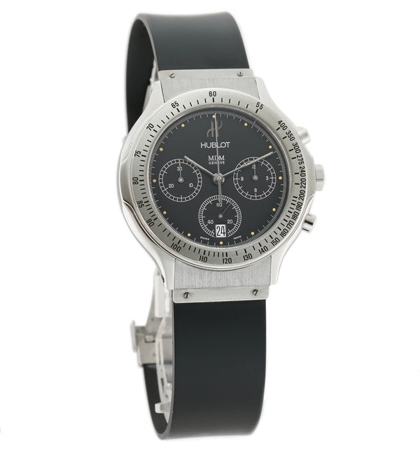 Depose Chronograph Steel 37mm Black Dial Quartz