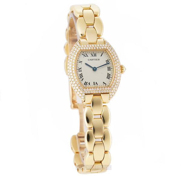 Ladies 18k Yellow Gold Factory Diamond Bezel