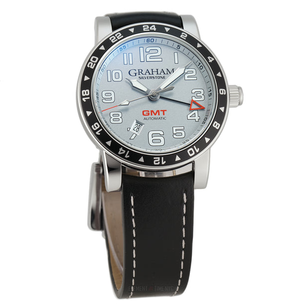 Time Zone Stainless Steel 42mm Silver Dial