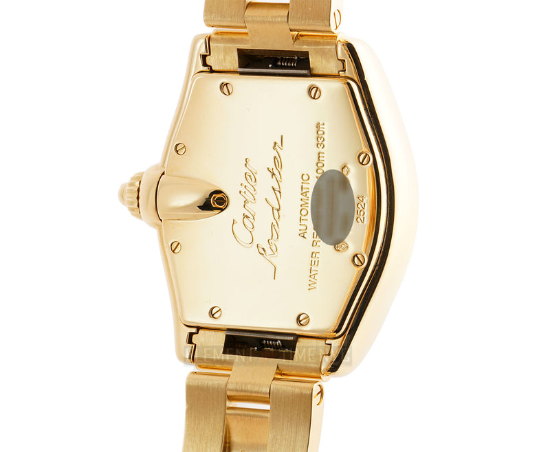 18k Yellow Gold Large 37mm Silver Dial Automatic On Bracelet
