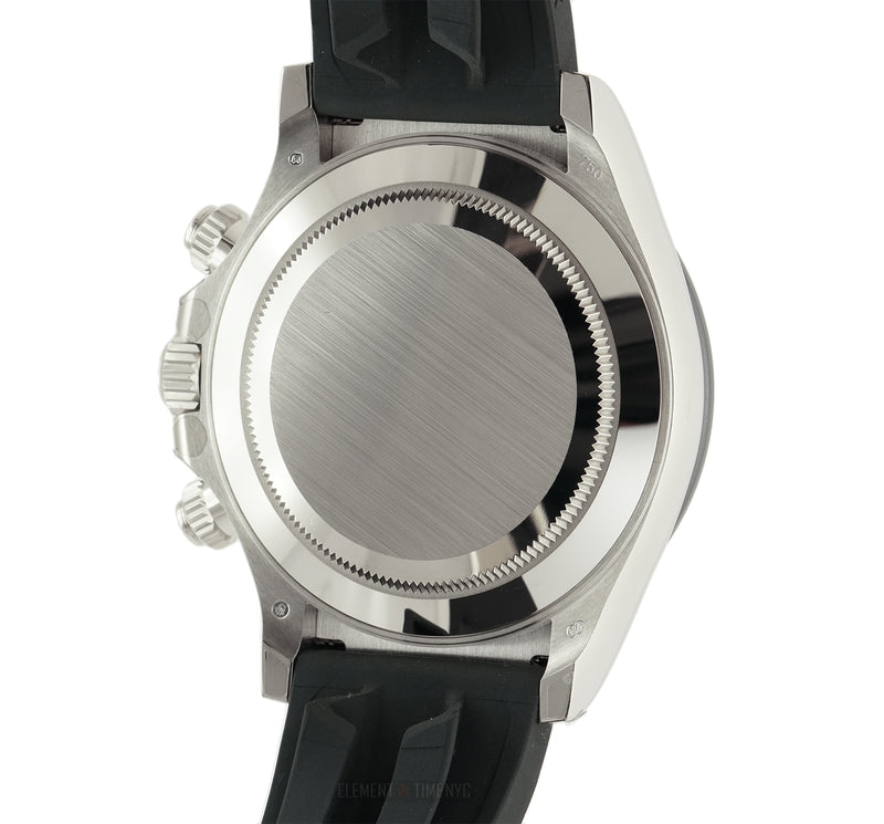 Oysterflex 18k White Gold Ceramic Bezel Mother of Pearl Diamond Dial
