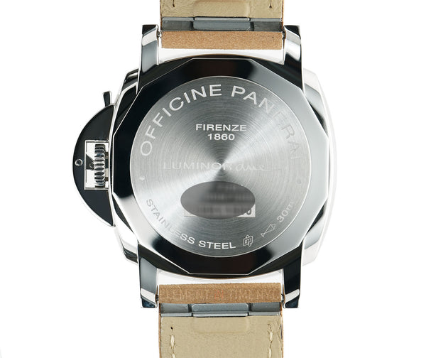 Due 3 Day Steel 38mm Anthracite Sandwich Dial on Beige Strap