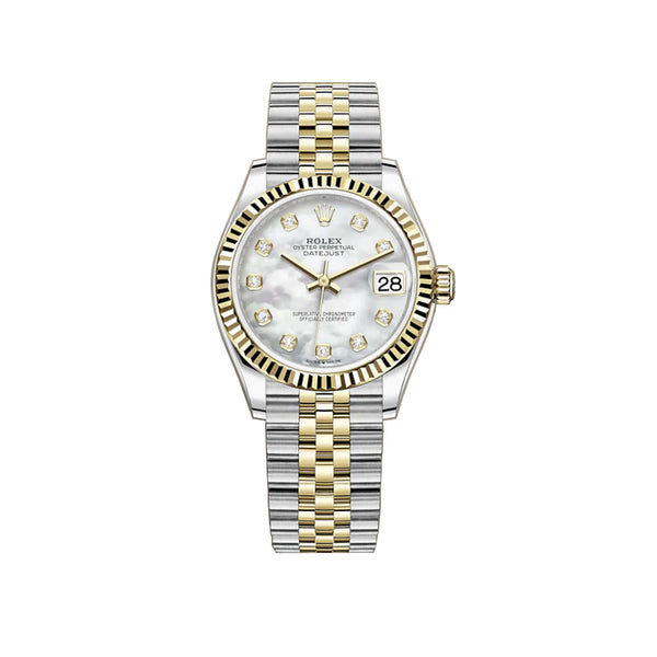 31mm Steel And 18k Yellow Gold White Mother-of Pearl Dial Jubilee Bracelet