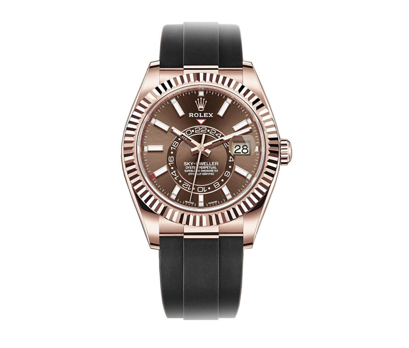18k Everose Gold Chocolate Dial Oysterflex 42mm