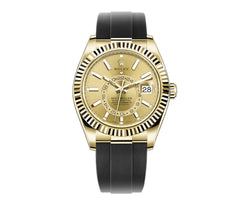 18k Yellow Gold Champagne Dial Oysterflex 42mm