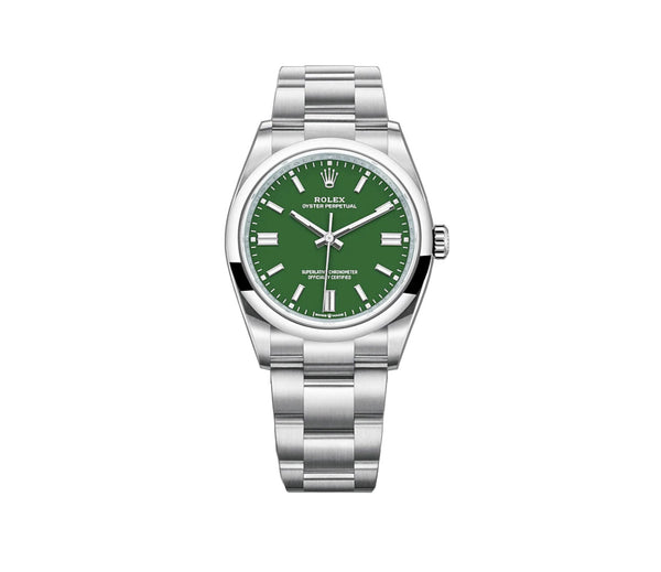 No-Date 36mm Green Index Dial