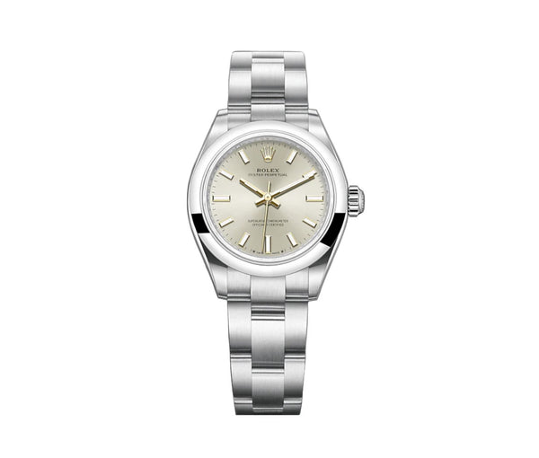 No-Date 28mm Silver Dial Oyster Bracelet