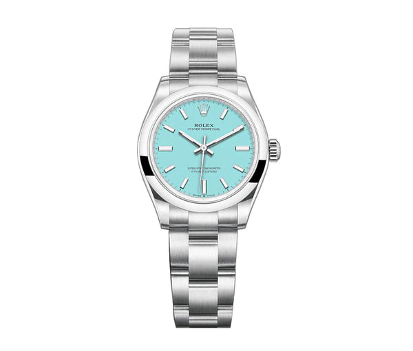 No-Date 31mm Turquoise Blue Dial Oyster Bracelet