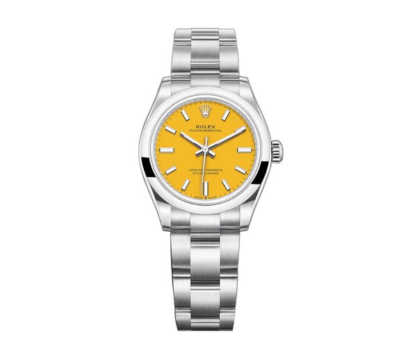 No-Date 31mm Yellow Dial Oyster Bracelet