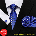 1987 Urban Spade Men's Tie Hanky Cufflink Set For Men (+More Colors) - Urban Spade Exclusive Shop