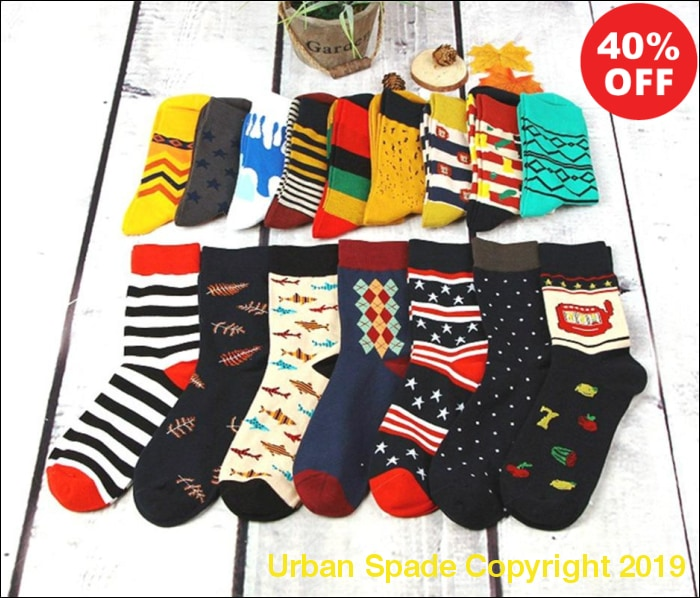 2019 Casual Men's High Quality Stylish Funny Design Socks (+More Colors) - Urban Spade Exclusive Shop