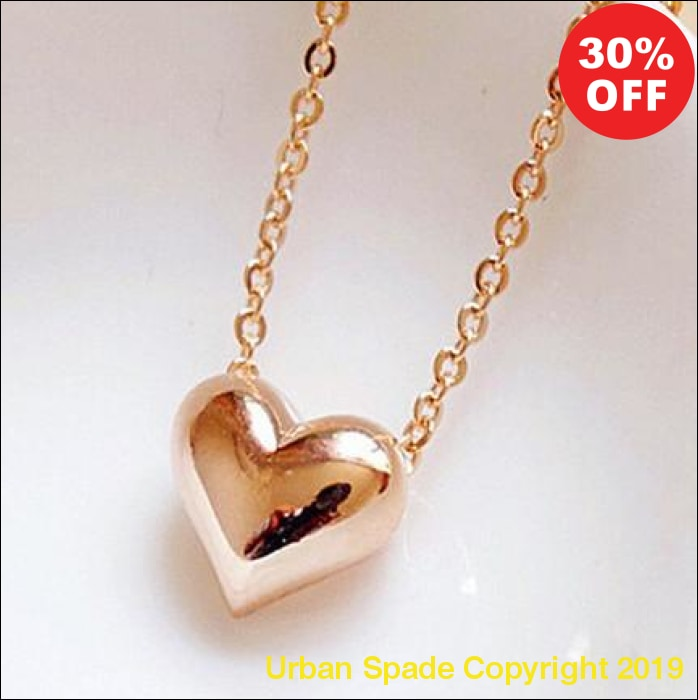 2019 Gold Heart Luxury Necklace - Urban Spade Exclusive Shop