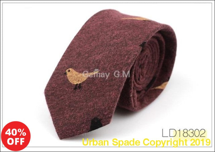 2019 Luxury Casual Printed Skinny Cravat Ties for Men - Urban Spade Exclusive Shop