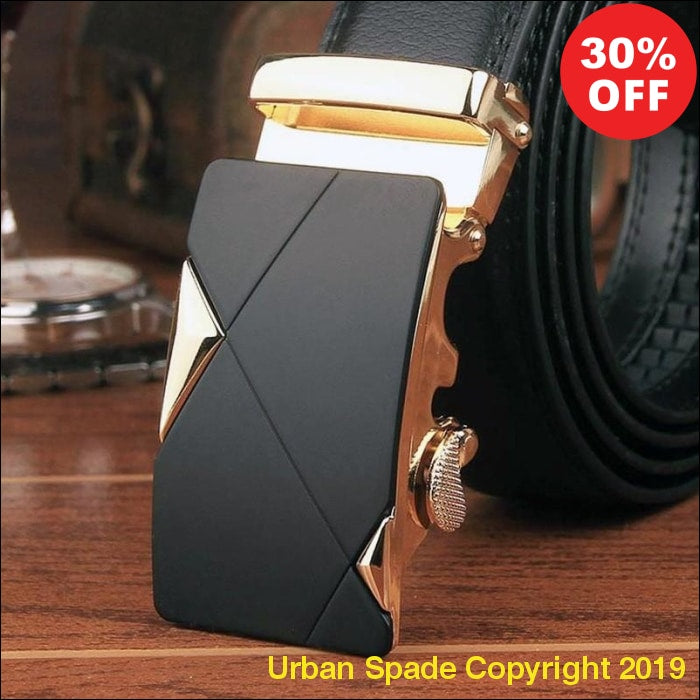 2019 Men's Luxury Automatic Buckle Leather Belt - Urban Spade Exclusive Shop