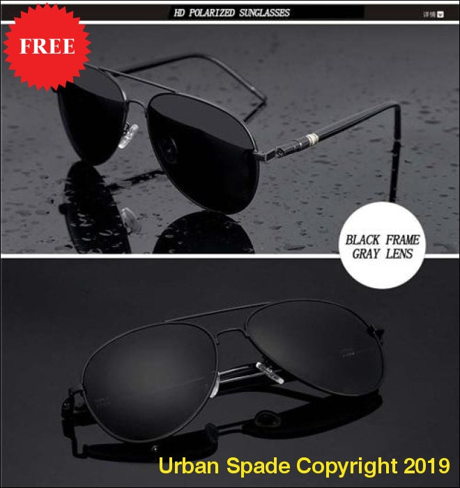 2019 Men's Polarized High Quality Exclusive Aviator Sunglasses (+More Colors) - Urban Spade Exclusive Shop