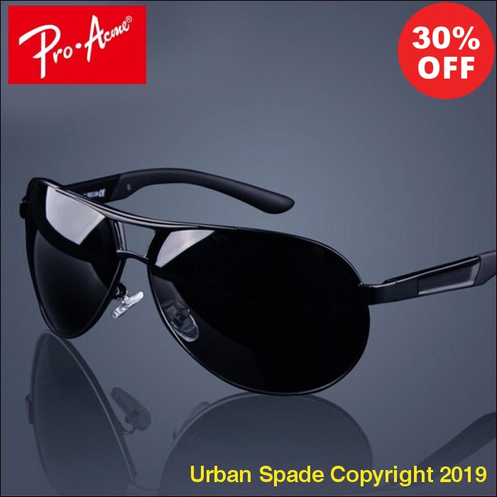 "2019 ""Pro Acme"" Classic Luxury Men's Polarized Pilot Sunglasses (+More Colors) - Urban Spade Exclusive Shop"