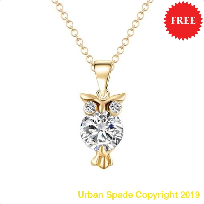 2019 Stylish Accented Owl Pendant Necklace - Urban Spade Exclusive Shop