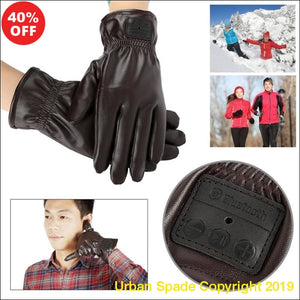 2019 Stylish Unisex Bluetooth Wireless Leather Gloves For iphone and Samsung Users. (+More Colors) - Urban Spade Exclusive Shop