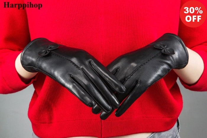"2019 Urban Spade ""Harpihop"" Stylish Women's Genuine Leather Gloves (+More Colors) - Urban Spade Exclusive Shop"