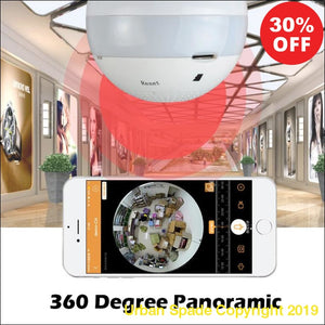 360 Panoramic View 1080P Wireless IP Home Camera Light Built Lamp - Urban Spade Exclusive Shop