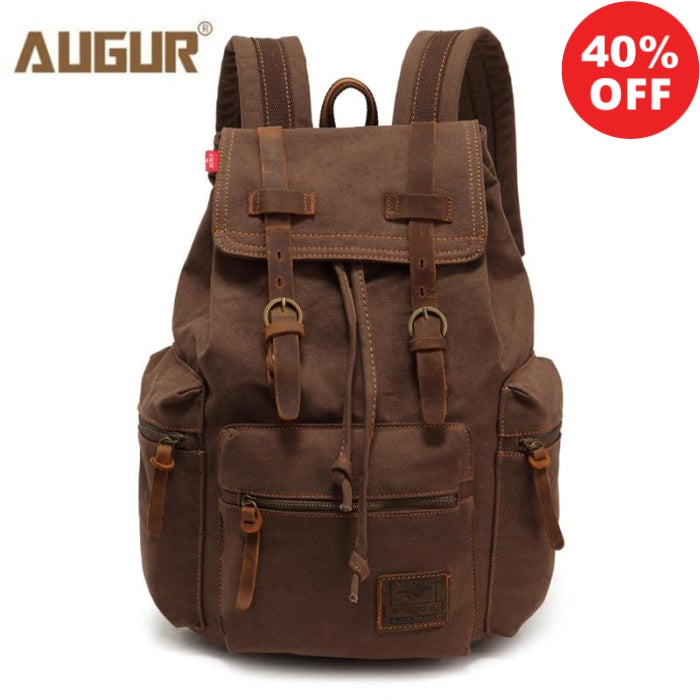 AUGUR 2019 Collection Men's Luxury Canvas Travel Backpack (+More Colors) - Urban Spade Exclusive Shop