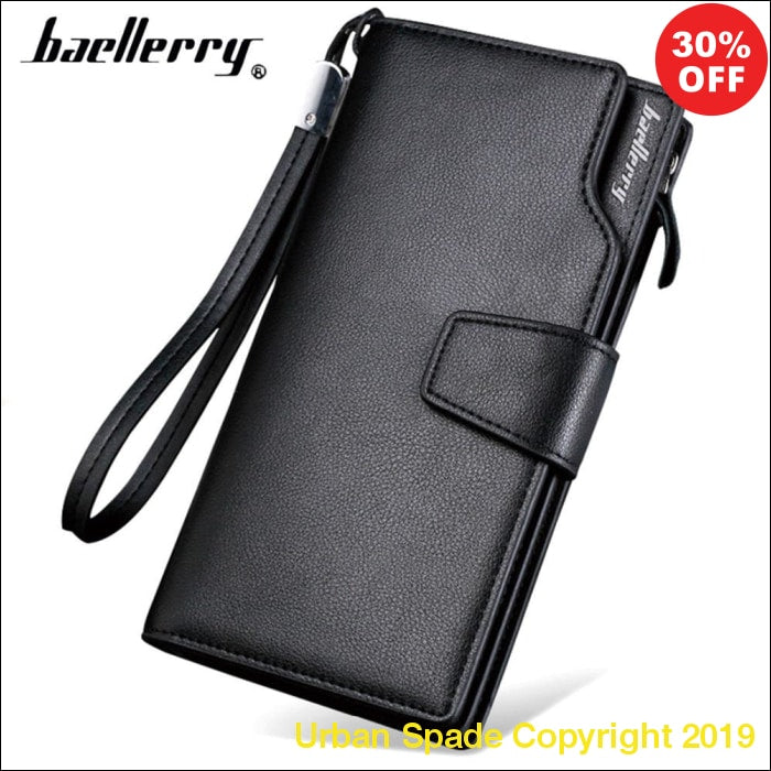Baellerry Leather Luxury Designer Long Men's Card Case (+More Colors) - Urban Spade Exclusive Shop