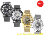 Free Urban Spade Stylish Skeleton Stainless Steel Watch (+More Colors) - Urban Spade Exclusive Shop