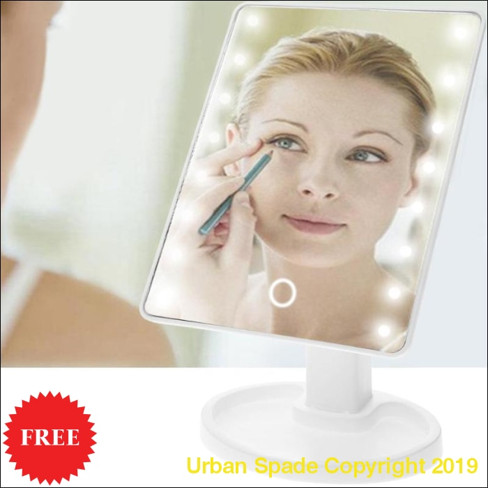 LED Touch Screen Professional Vanity Adjustable Makeup Mirror (+More Colors) - Urban Spade Exclusive Shop