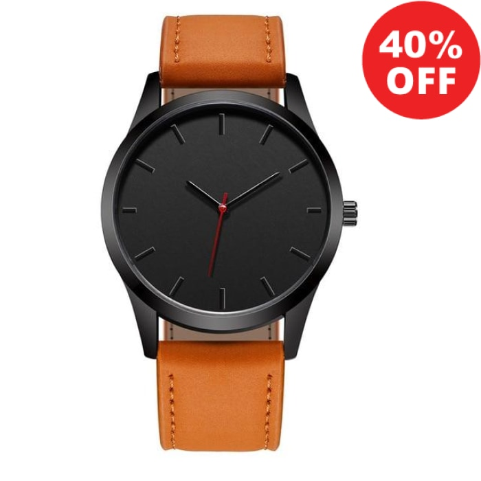 Luxury Dial Military High Quality Leather Sport Men's Watch (+More Colors) - Urban Spade Exclusive Shop