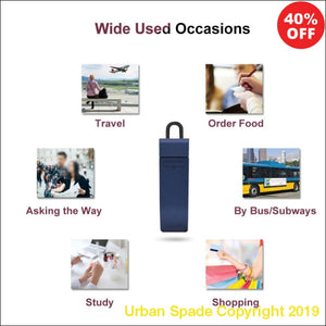 Multi-Language Bluetooth Earphone Real-Time Voice Translator (+More Colors) - Urban Spade Exclusive Shop