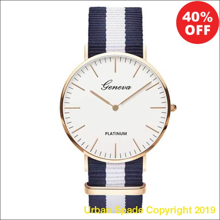 Nylon Strap Stylish Women's Wrist Watch (+More Colors) - Urban Spade Exclusive Shop
