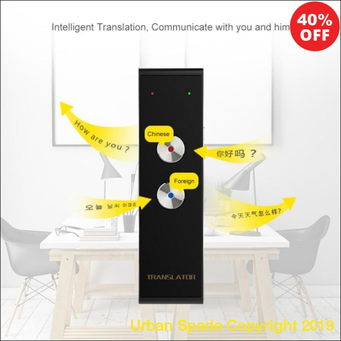Portable Smart Speech Two-Way Translator (+More Colors) - Urban Spade Exclusive Shop