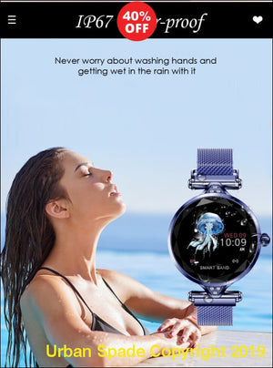 Stylish Women's Waterproof SmartWatch Sport for Iphone iOS and Android Phones (+More Colors) - Urban Spade Exclusive Shop