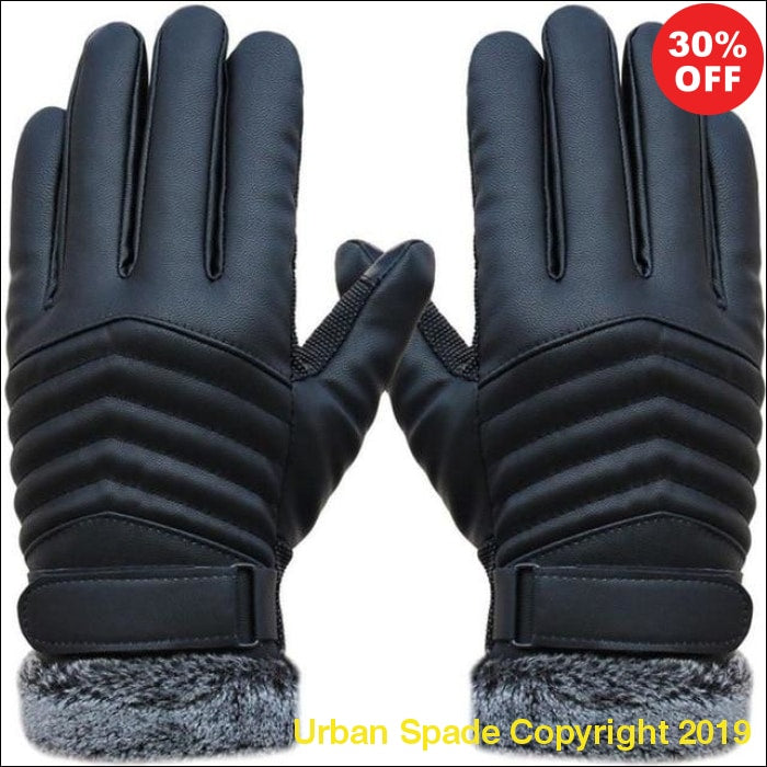 Urban Spade 2019 Designer Men's High Quality Genuine Leather Gloves (+More Colors) - Urban Spade Exclusive Shop