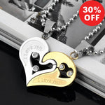 Urban Spade Exclusive Love Heart Pendant Puzzle Matching Halves for Lovers Necklace - Urban Spade Exclusive Shop