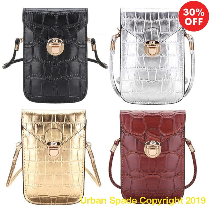 Urban Spade Small Crocodile Leather Pouchettes (+More Colors) - Urban Spade Exclusive Shop