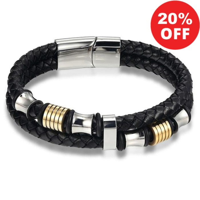 Urban Spade Stylish Genuine Leather Double Layer  Bracelet - Urban Spade Exclusive Shop