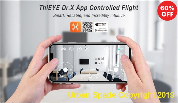 Urban Spade ThiEYE Dr.X Mini Drone With Camera HD 1080P Camera - Urban Spade Exclusive Shop