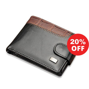 "Urban Spade's ""PILUSI"" Vintage Stylish Leather Hasp Men's Small Wallet (+More Colors) - Urban Spade Exclusive Shop"