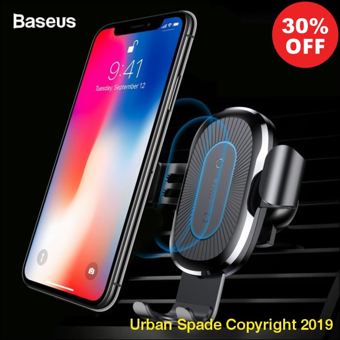 Wireless Car Mount Phone Holder Stand Charger For iPhone X / For iPhone 8/8 Plus (+More Colors) - Urban Spade Exclusive Shop